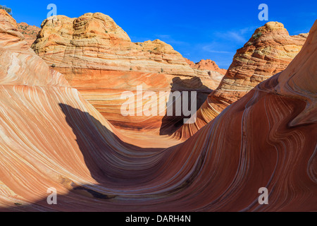 Rock formations in the North Coyote Buttes, part of the Vermilion Cliffs National Monument. This area is also known - Stock Photo