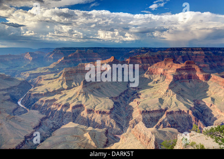 USA, Arizona, Grand Canyon National Park (South Rim), Colorado River from Mohave Point - Stock Photo