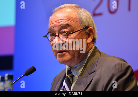 Jean-Jacques Dordain, European Space Agency Director General, speaking at the 2013 UK Space Conference in Glasgow. - Stock Photo