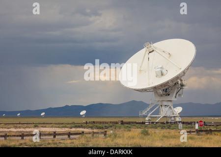 USA, New Mexico, Socorro, Very Large Array International Radio Telescope - Stock Photo