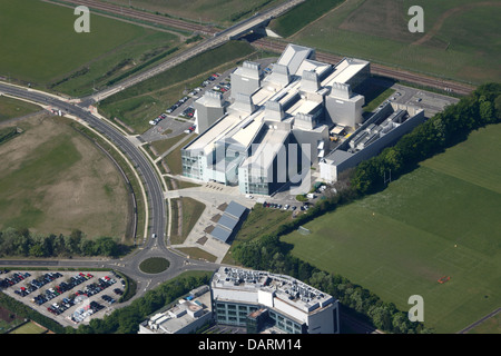 Aerial View of the New Lab of Molecular Biology, Cambridge - Stock Photo