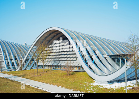 Europe, Switzerland, Bern, Swiss capital city, Zentrum Paul Klee, modern art museum, designed by Renzo Piano - Stock Photo