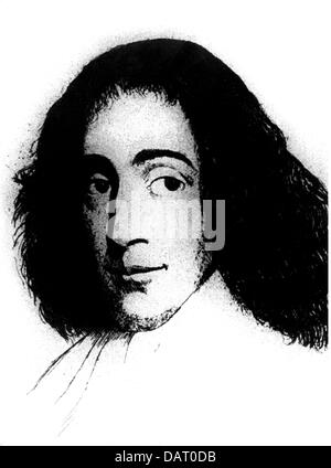 Spinoza, Benedict de, 24.11.1632 - 21.2.1677, Dutch philosopher, portrait, based on etching, Baruch, philosopher, - Stock Photo