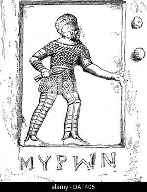 Stock Photo Ancient World Roman Empire Roman Gladiator Fight Collosseum Rome Lithograph 33534676