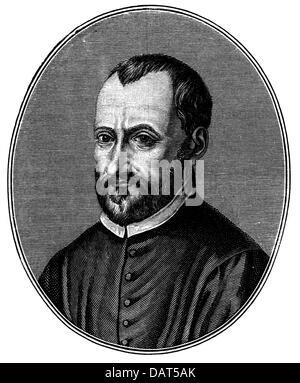 Palestrina, Giovanni Pierluigi, 1.12.1525 - 2.2.1594, Italian musician (composer), portrait, engraving, circa 17th - Stock Photo