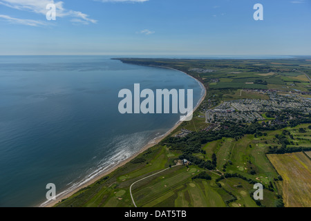 Aerial photograph looking south along the East Yorkshire coast. - Stock Photo