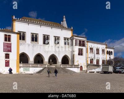 Palácio Nacional (National Palace) in Sintra, Portugal, Europe - Stock Photo