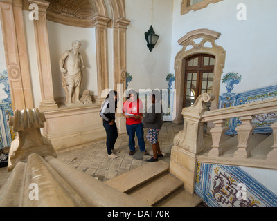 Group of multi ethnic students in the Colégio de São Jerónimo at the Coimbra University, Coimbra, Portugal - Stock Photo
