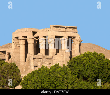 The Temple of Haroeris and Sobek at Kom Ombo in the Nile Valley, Upper Egypt - Stock Photo