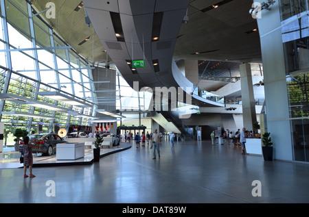 BMW Welt BMW World fantastic futuristic architectural design! Munich, Bavaria, Germany - Stock Photo