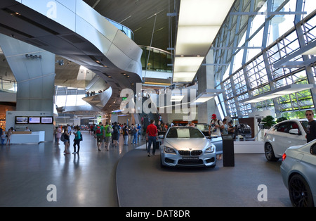 BMW Welt BMW World fantastic futuristic architectural design! Munich, Bavaria, Germany - Stock Photo