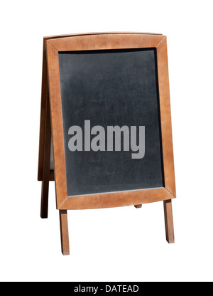 Wooden menu board with clipping path - Stock Photo