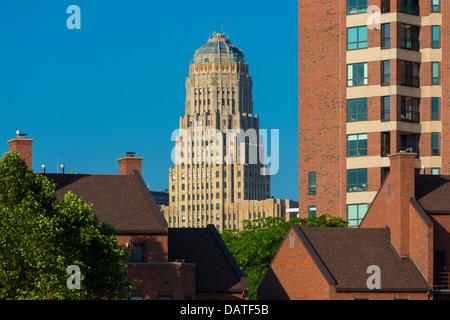 New york buffalo city hall ornate art deco facade - Style new york deco ...