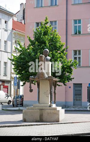 Prague, Jaroslav Hasek, writer, author, statue - Stock Photo