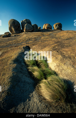 Rocks at the Matopos National Park at the Rhodes grave site, Zimbabwe. - Stock Photo