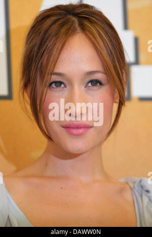 US actress Maggie Q poses at the photo call for the upcoming premiere of her new film 'Stirb langsam 4.0'  ('Live - Stock Photo