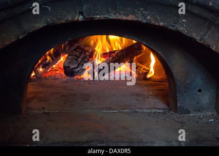 wood burning oven - Stock Photo