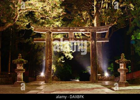 The ishidori is a stone tori gate in Nikko, Japan.