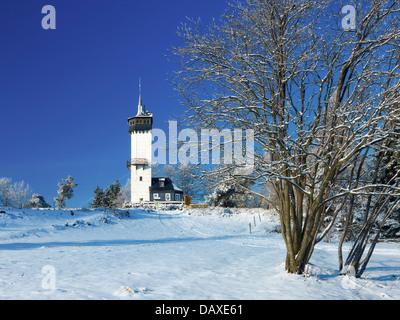 Fröbelturm, Kirchberg mountain, 784 above sea level, Oberweissbach, Thuringia, Germany - Stock Photo