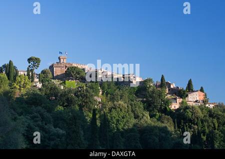 Le Haut-de-Cagnes, medieval hilltop village near to Nice, France - Stock Photo