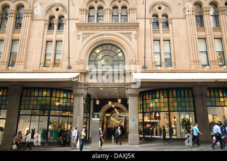 Queen victoria building, a Romanesque Revival building was constructed between 1893 and 1898.here viewed from market - Stock Photo