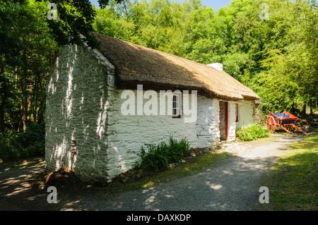 Old Irish thatched cottage - Stock Photo