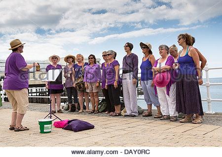 Aberystwyth, Wales, UK, 20 July, 2013. The Street Choirs Festival celebrates its 31st birthday at Aberystwyth this - Stock Photo