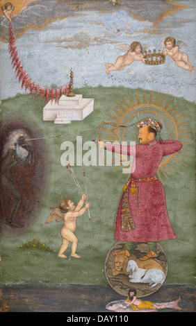 Emperor Jahangir Triumphing Over Poverty M.75.4.28 (2 of 2) - Stock Photo