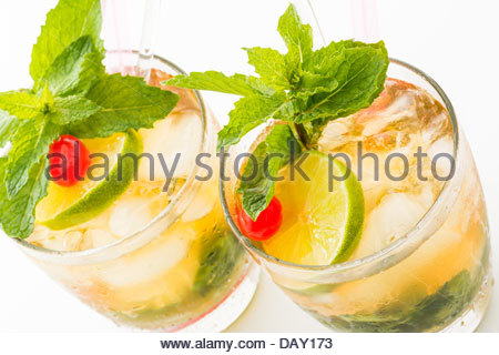 Mint Julep one of the most popular drinks in North America - Stock Photo