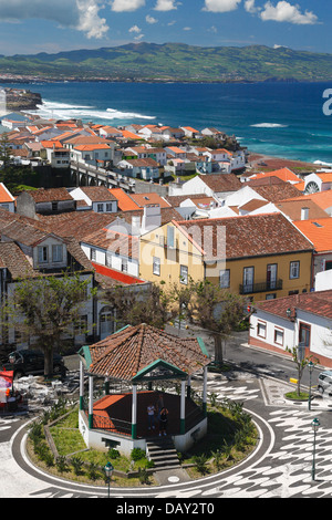 The city of Ribeira Grande on the island of Sao Miguel, Azores islands, Portugal - Stock Photo