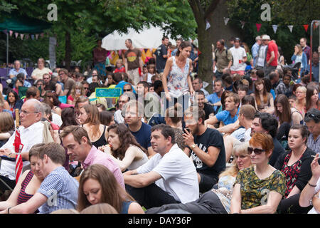 Sheffield Tramlines Festival, Yorkshire, UK. 20th June 2013. Now in it's 5th year takes place in music venues and - Stock Photo