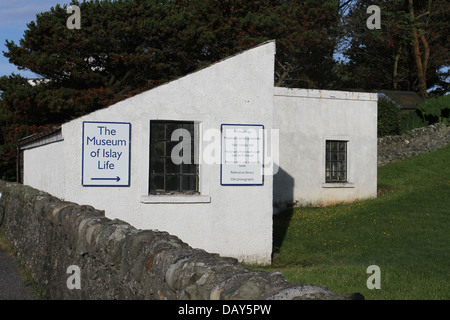 Exterior of the Museum of Islay Life  Port Charlotte Isle of Islay Scotland  July 2013 - Stock Photo