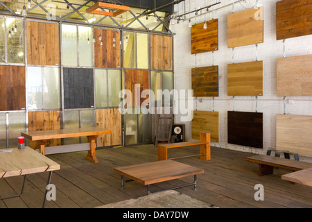 ... Mark Jupiter Custom Furniture In DUMBO Brooklyn   Stock Photo