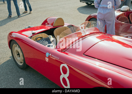 1949 Fiat Ortolani Sport driven by FASCIOLO Giuseppe MASSUCCO Ornella before the start of race of historical cars - Stock Photo