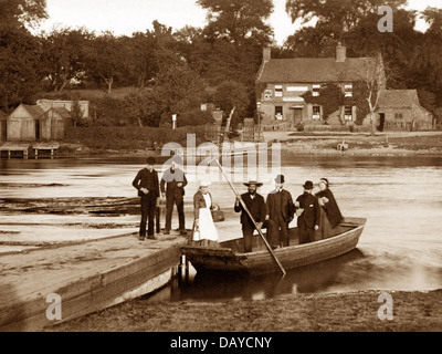 Burton-on-Trent The Old Ferry Victorian period - Stock Photo
