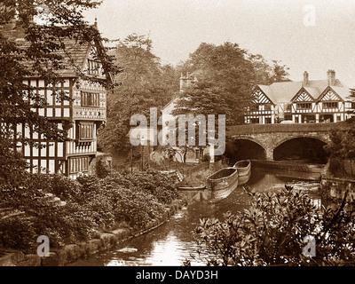 Worsley Boat House early 1900s - Stock Photo