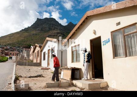 Housing in Imizamo Yethu township, Hout Bay, Cape Town, South Africa