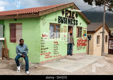 Street scene, Imizamo Yethu township, Hout Bay, Cape Town, South Africa