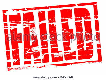 Digital composite Rubber stamp. Failed - Stock Photo