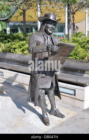 Statue of William Penn by Lawrence Holofcener, Millennium Square, Bristol - Stock Photo