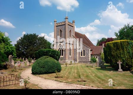 St Nicholas church in Remenham near Henley - Stock Photo