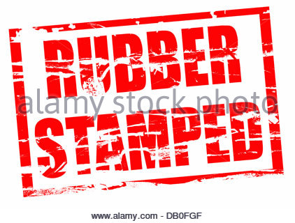 Digital composite Rubber stamp. Rubber stamped - Stock Photo