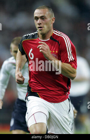(dpa file) - Germany's Christian Pander is pictured during the international match England vs Germany at Wembley - Stock Photo