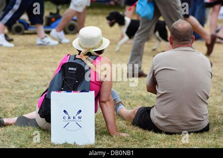 Alcester, Warwickshire. 21st July, 2013. The heat proved too much for some at the CLA Game Fair, Ragley Hall, Alcester, - Stock Photo