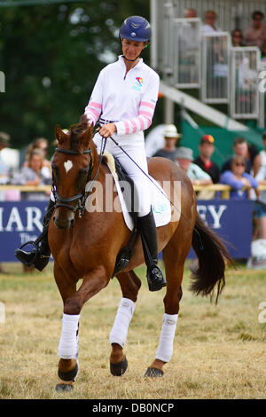 Alcester, Warwickshire. 21st July, 2013. Lucinda Fredericks on Headley Britannia in the ring at at the CLA Game - Stock Photo
