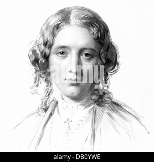 HARRIET BEECHER STOWE (1811-1896) American abolitionist and author of Uncle Tom's Cabin, here about 1855 - Stock Photo