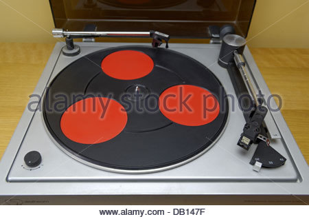Strathearn STM4 Electronic Servo direct drive turntable from the 1970's. Showing some signs of wear and tear with - Stock Photo