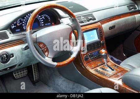 Photo of interior of dear car... - Stock Photo