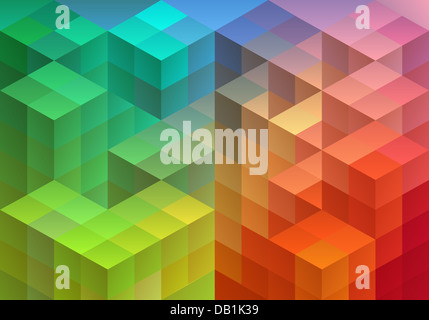 Abstract geometric pattern, triangle polygon design, vector background - Stock Photo