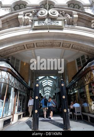 Burlington Arcade, Piccadilly, London - Stock Photo